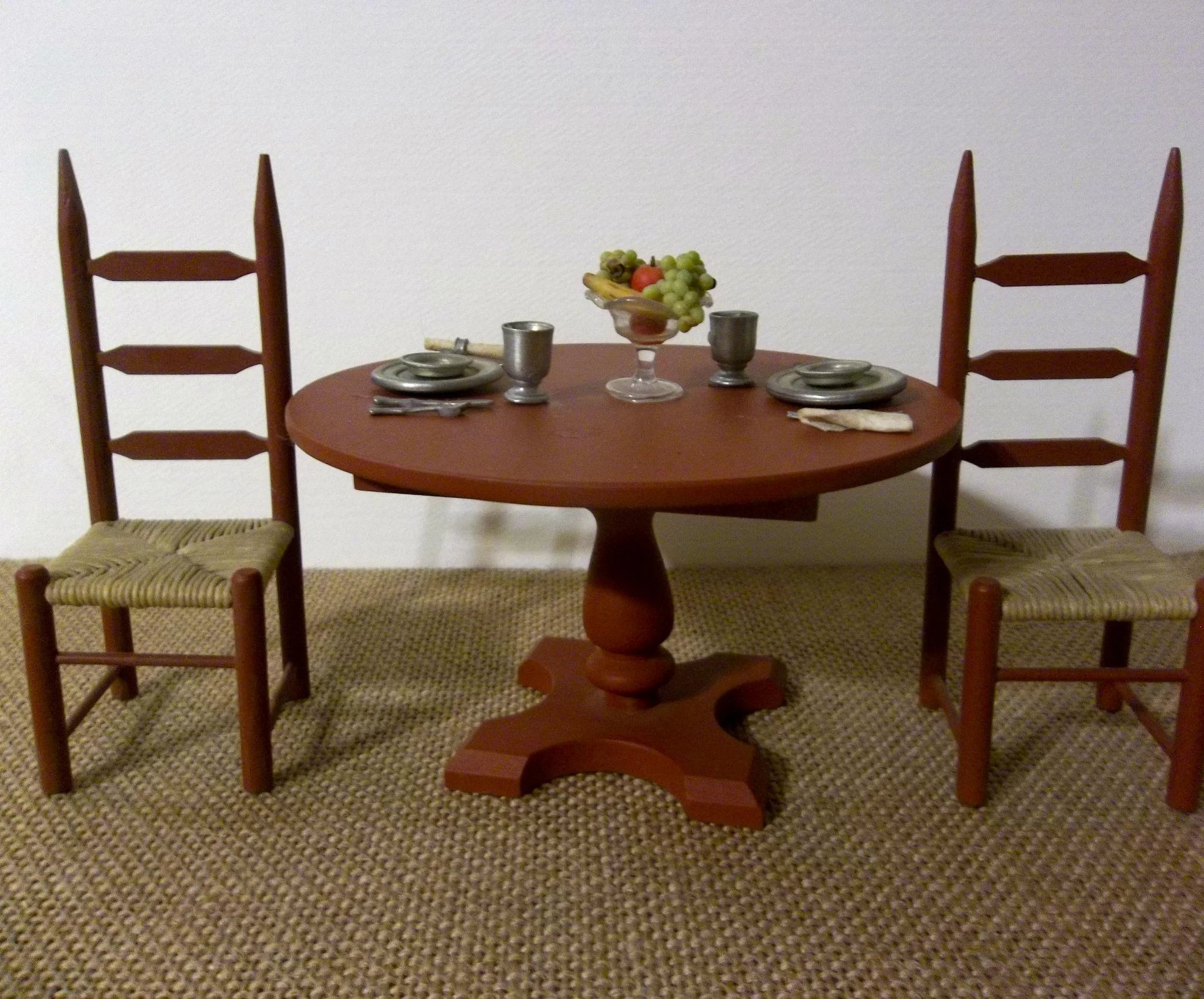 dollhouse dining room furniture. click to expand · wonderful vintage dollhouse dining table and chair & Dollhouse Dining Room Furniture Click To Expand · Wonderful Vintage ...