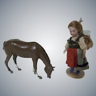 Wonderful Metal Horse for your Lilliputians or Small Dollhouse Dolls