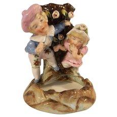 German Antique Conta Boheme Fairing Spill Vase Boy and Girl c19th century