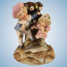 German Antique Conta Boheme Fairing Spill Vase Boy and Girl c19th century