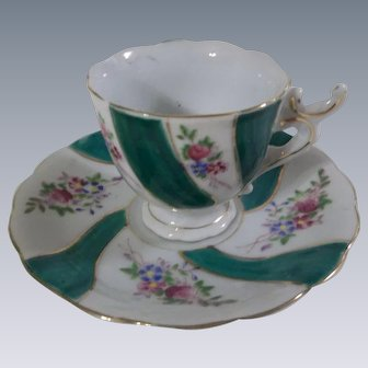 Beautiful Vintage Tea Cup and Saucer Made in Japan