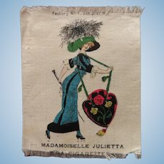 Mademoiselle Julietta Tobacco Silk Picture for Your Dollhouse