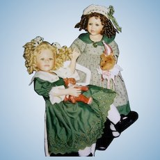 2 Porcelain Dolls MIB - Nellie and Saartjie by Berdine Creedy - Limited edition 69/600