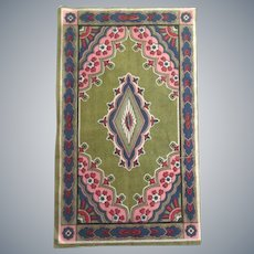 Beautiful Antique Oriental Design Dollhouse Rug c1910