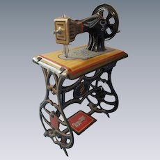 Antique German Penny Toy Lithograph Sewing Machine for your Dollhouse
