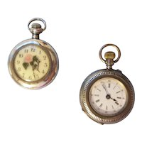 Two Pretty Pocket Watches need TLC