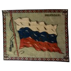 Large Vintage Tobacco Felt Flag - Russia
