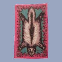 Wonderful Tobacco Felt Skunk Dollhouse Rug