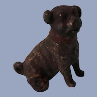 Sweet Little Antique Vienna Bronze Dog for your Dollhouse