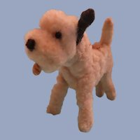 Adorable Vintage Chenille Dog for your Animal Loving Doll!