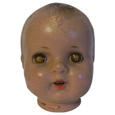Vintage Composition Baby Head Needs Body - Red Tag Sale Item