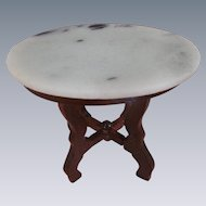 Vintage Marble Top Dollhouse Table