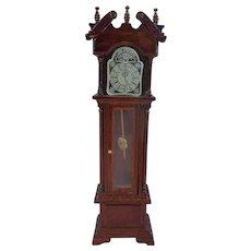 Lovely Vintage Wooden Miniature Dollhouse Clock