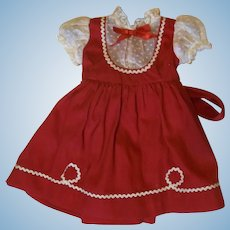 Vintage 1950s Untagged Doll Dress
