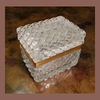 Antique Cut Crystal Hinged Box