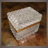 Antique Cut Crystal Hinged Box