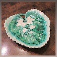 Majolica Leaf Dish, Circa 1880