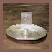 Hotel Silver Match Holder/ Ashtray From The Croydon Hotel, New York