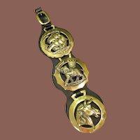 Vintage Brass Bridle Harness Ornament