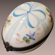 Vintage Hand Painted And Signed Porcelain Limoges France Trinket Box