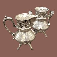 Victorian Wilcox Silver Plate Co Cream And Sugar, Circa 1870