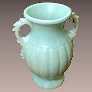 Large Vintage McCoy Pale Blue Green Vase, Circa 1940