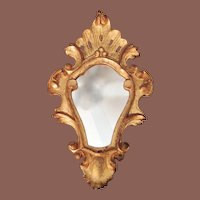 Vintage Italian Florentine Gold Mirror, Circa 1940