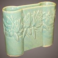 Vintage Nelson McCoy Matte Green Butterfly Castle Gate Vase, Circa 1940