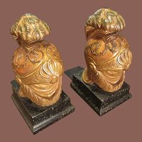 Vintage Roman Helmet Bookends Made By Borghese