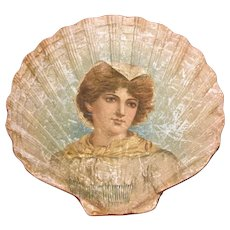 """""""Sally In Our Alley"""" Embossed And Lithographed Paper Shell-Shaped Souvenir, Circa 1902"""