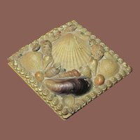 English Victorian Shell Art Box, Circa 1900