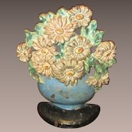 Cast Iron Flower Bouquet Doorstop
