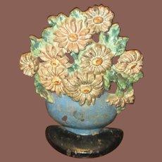 Cast Iron Flower Bouquet Doorstop
