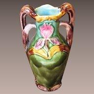 Art Nouveau Majolica Vase