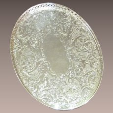 Vintage Silverplate Gallery Tray