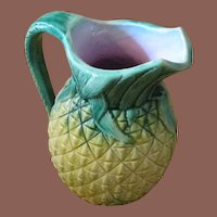 Majolica Pineapple Pitcher, Circa 1900
