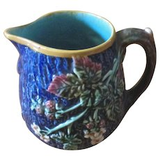 Majolica Raspberry Design Pitcher