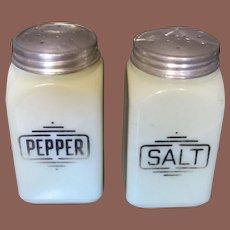 McKee Custard Yellow Glass Salt And Pepper Shakers, Circa 1930