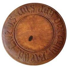 Vintage Hand Carved Wood Bread Board
