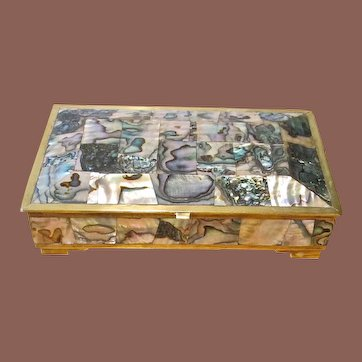 Vintage Abalone And Rosewood Box, Circa 1960