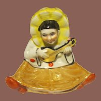 1930's Lusterware Pierrot Ashtray/ Cigarette Holder/ Match Striker