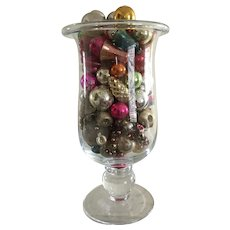 19th Century Apothecary Jar Filled with Early, Great Ornaments