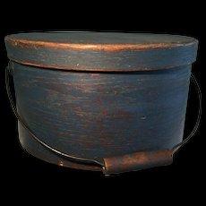 19th Century Blue Bail Handle Pantry