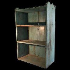 """19th Century """"Soft Blue"""" Shelf- A FAVORITE"""