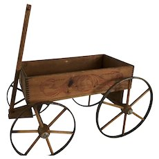 19th Century Child Wagon - Perfect - Original Surface