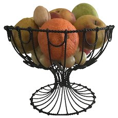19th Century Wire Compote/19th Century Stone Fruit