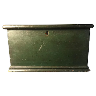 19th Century Windsor Green Document Box - Great!