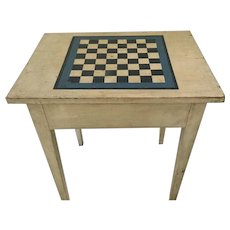 19th Century End Table/Game Board Top
