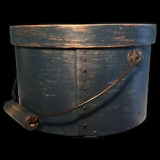 19th Century Bail Handle Pantry - BLUE and 9 in