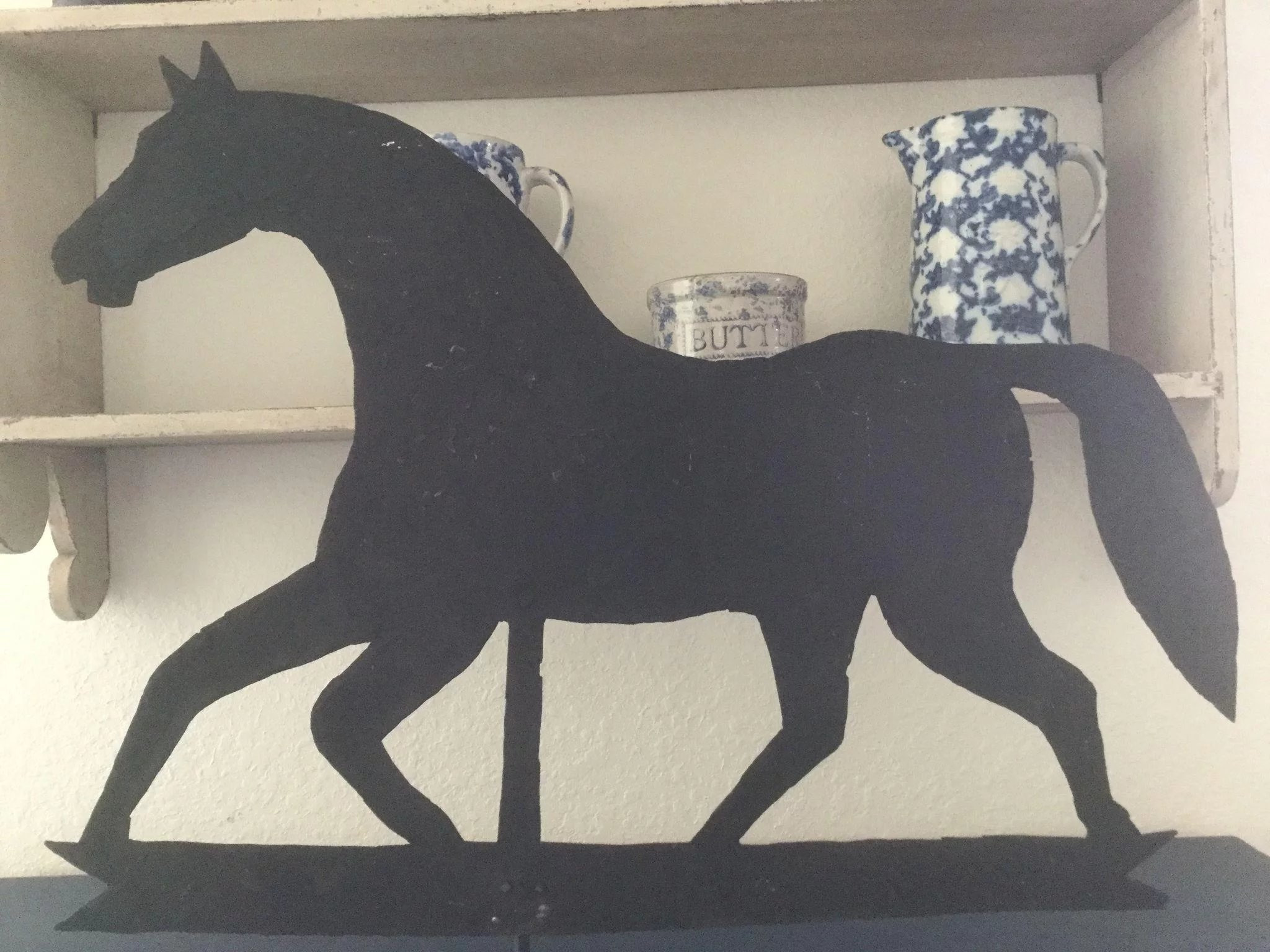 19th Century Horse Sheet Metal Weathervane Americana